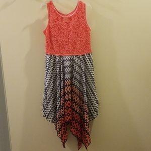 Adorable girls handkerchief bottom dress
